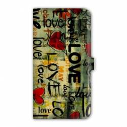housse cuir portefeuille Iphone 6 plus / 6s plus amour