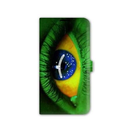 housse cuir portefeuille Iphone 6 plus / 6s plus Bresil