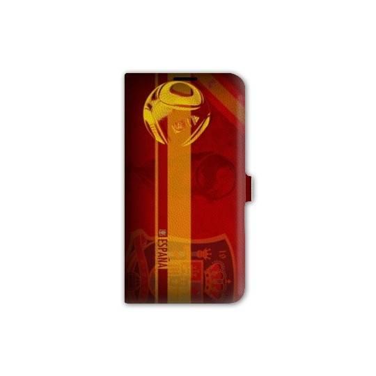 Housse portefeuille cuir Iphone 6 plus + Espagne