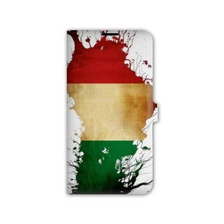 Housse portefeuille cuir Iphone 6 plus + Italie