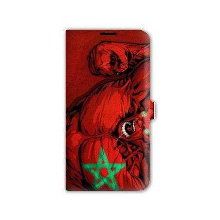 Housse portefeuille cuir Iphone 6 plus + Maroc