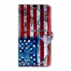 housse cuir portefeuille Iphone 6 plus / 6s plus Amerique