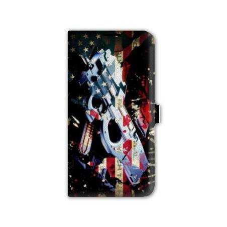 Housse portefeuille cuir Iphone 6 plus + Amerique