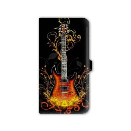 Housse portefeuille cuir Iphone 6 plus + guitare