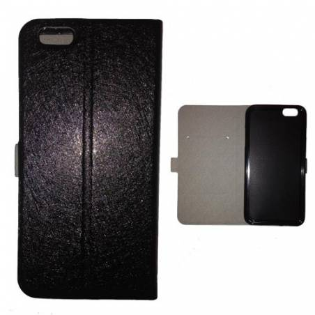 Housse portefeuille cuir Iphone 6 plus + techno
