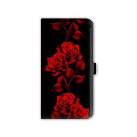 Housse portefeuille cuir Iphone 6 plus + fleurs