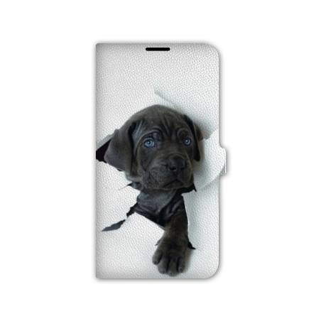 Housse portefeuille cuir Iphone 6 plus + animaux