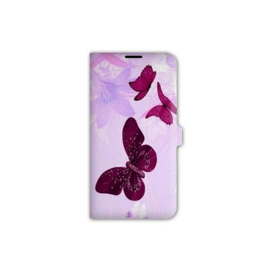 housse cuir portefeuille Iphone 6 plus / 6s plus papillons