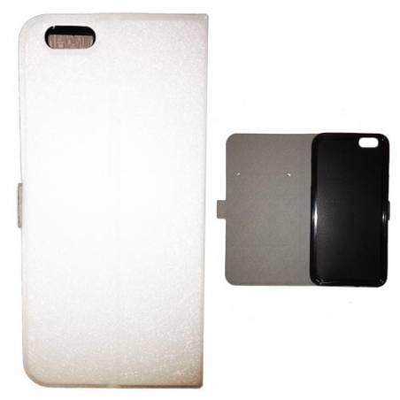 Housse portefeuille cuir Iphone 6 plus + papillons