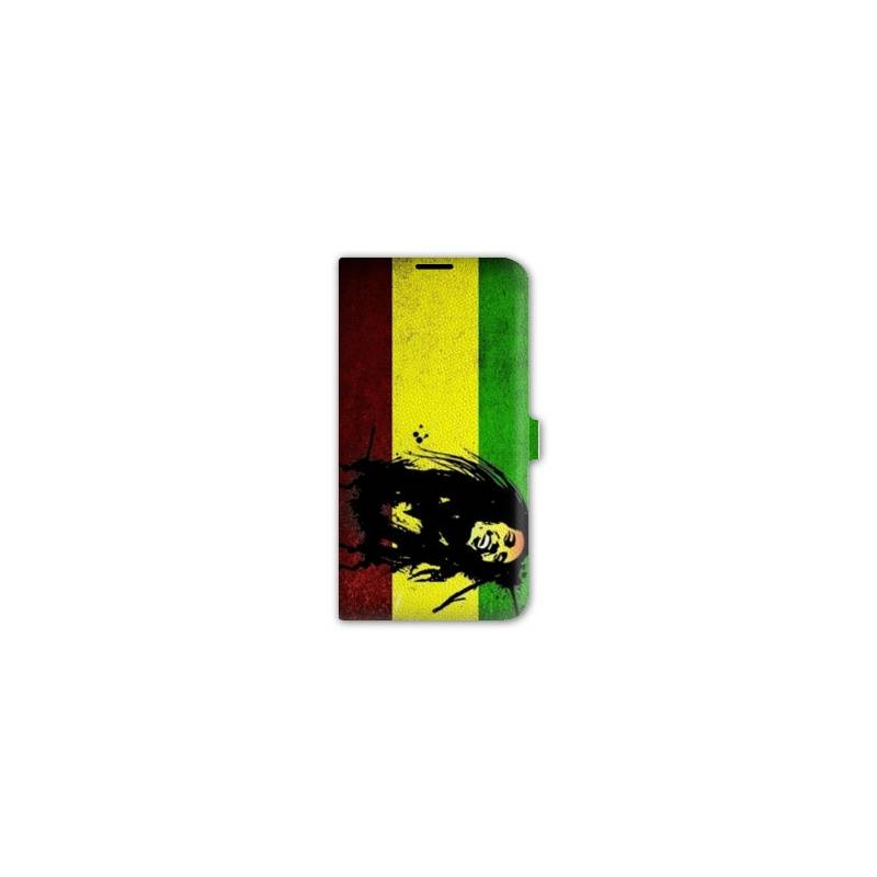 Housse portefeuille cuir iphone 6 plus bob marley for Iphone housse cuir