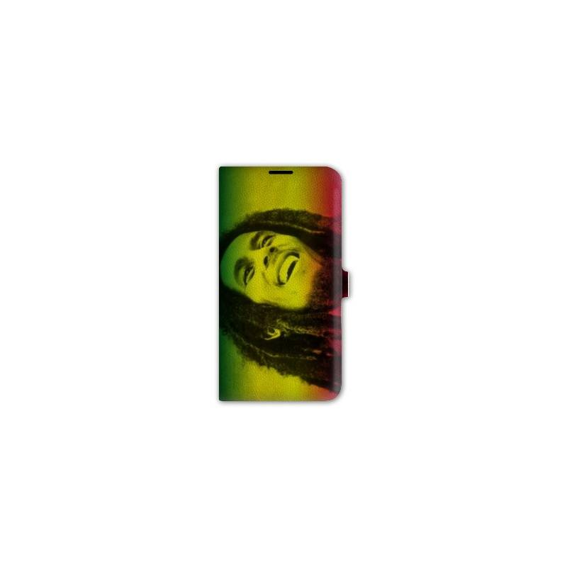 housse cuir portefeuille Iphone 6 plus / 6s plus Bob Marley
