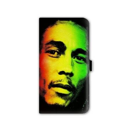 Housse portefeuille cuir Iphone 6 plus + Bob Marley