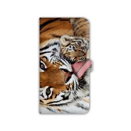 housse cuir portefeuille Iphone 6 plus / 6s plus felins
