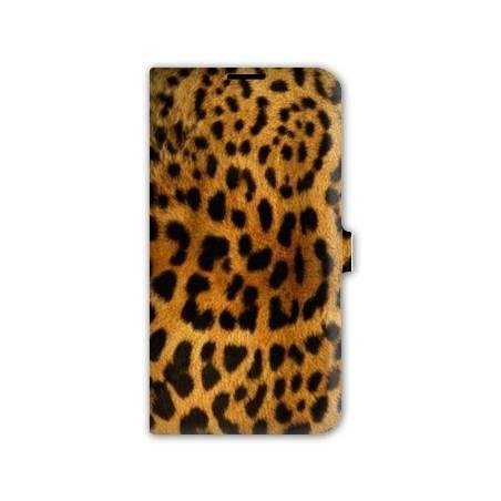 Housse portefeuille cuir Iphone 6 plus + felins