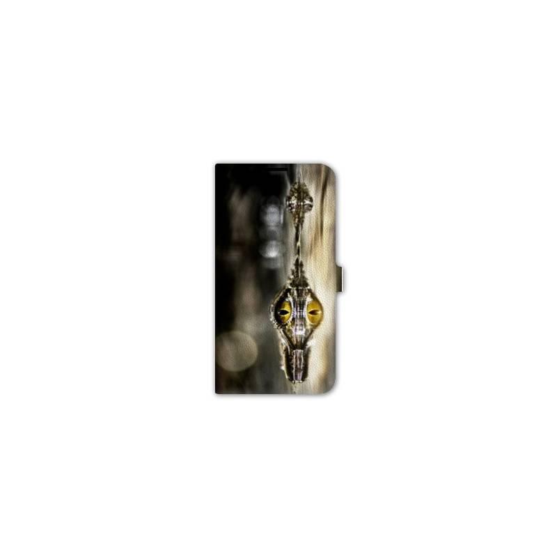 housse cuir portefeuille Iphone 6 plus / 6s plus reptiles