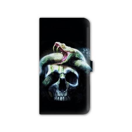 Housse portefeuille cuir Iphone 6 plus + reptiles