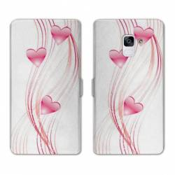 Housse cuir portefeuille Samsung Galaxy S9 amour