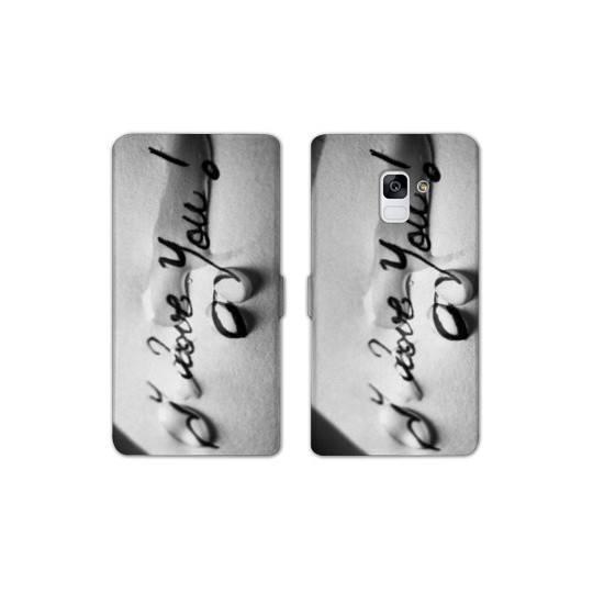 RV Housse cuir portefeuille pour Samsung Galaxy S9 amour