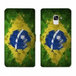 Housse cuir portefeuille Samsung Galaxy S9 Bresil