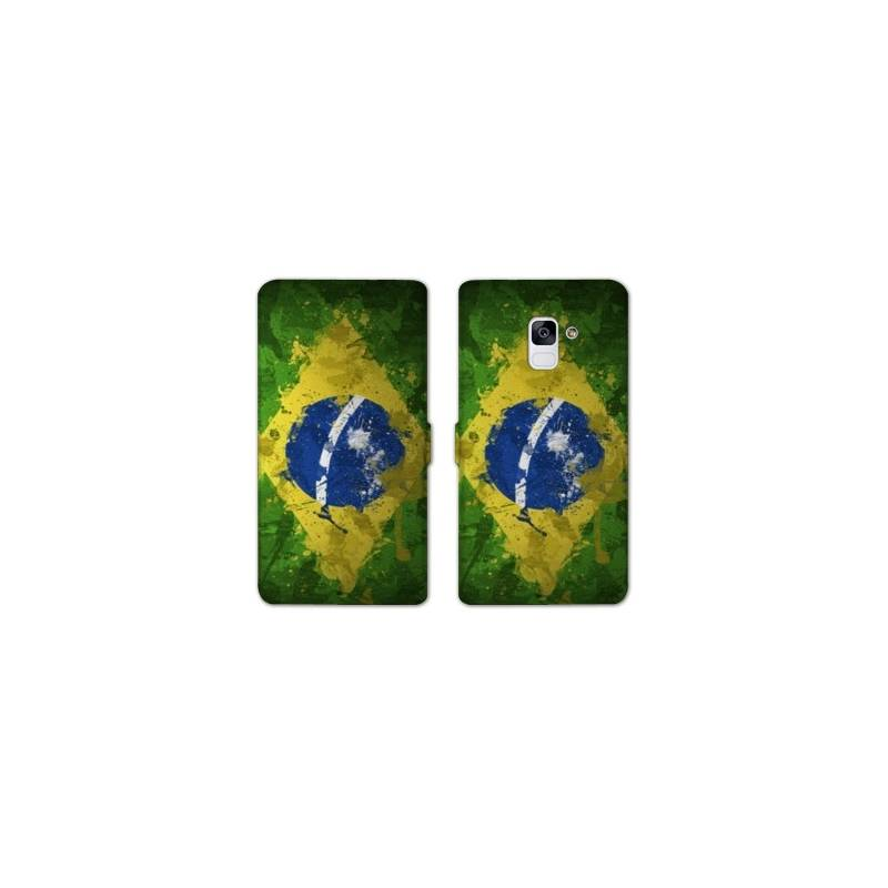 RV Housse cuir portefeuille Samsung Galaxy S9 Bresil