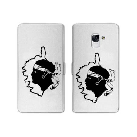 Housse cuir portefeuille Samsung Galaxy S9 Corse