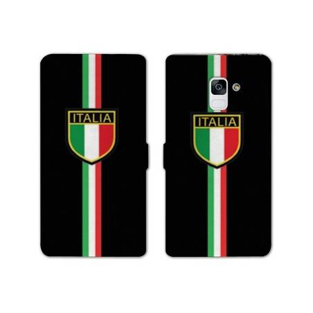 Housse cuir portefeuille Samsung Galaxy S9 Italie