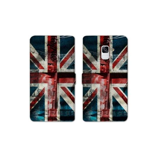 RV Housse cuir portefeuille pour Samsung Galaxy S9 Angleterre