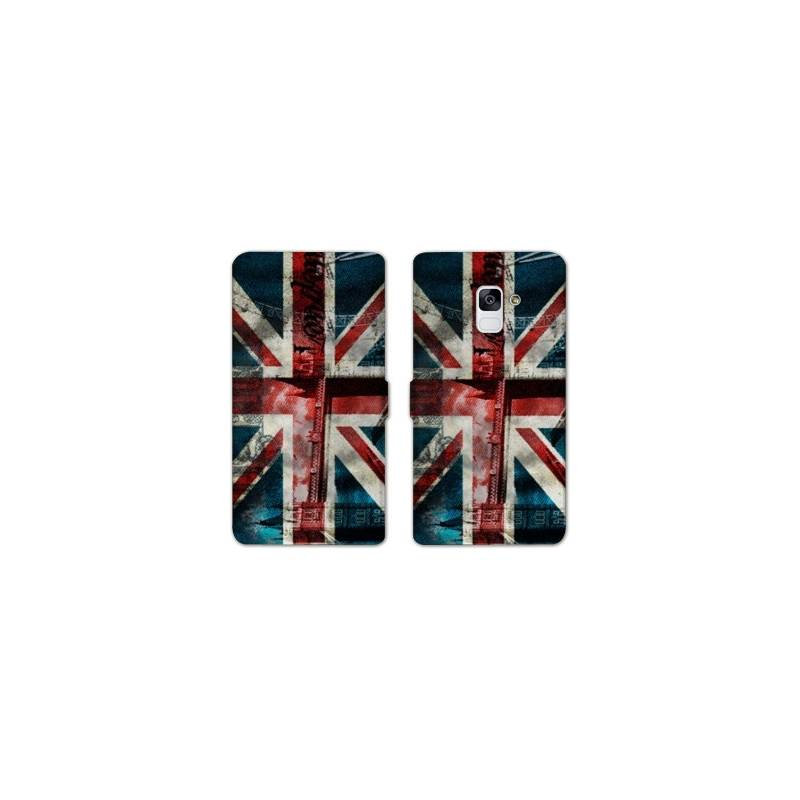 RV Housse cuir portefeuille Samsung Galaxy S9 Angleterre