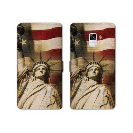Housse cuir portefeuille Samsung Galaxy S9 Amerique