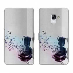 Housse cuir portefeuille Samsung Galaxy S9 techno