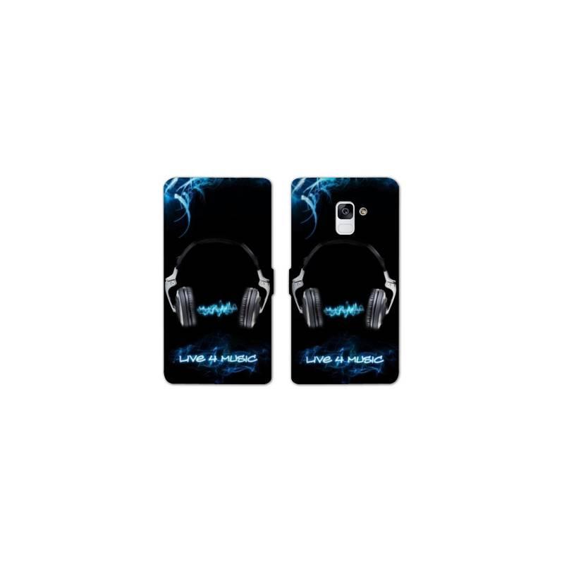 RV Housse cuir portefeuille Samsung Galaxy S9 techno