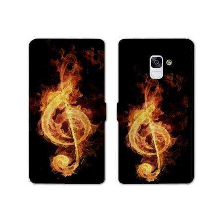 Housse cuir portefeuille Samsung Galaxy S9 Musique