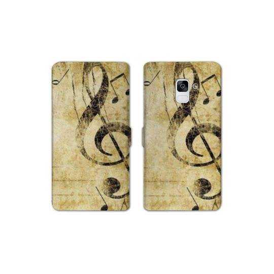 RV Housse cuir portefeuille pour Samsung Galaxy S9 Musique