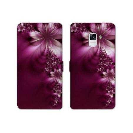 Housse cuir portefeuille Samsung Galaxy S9 fleurs