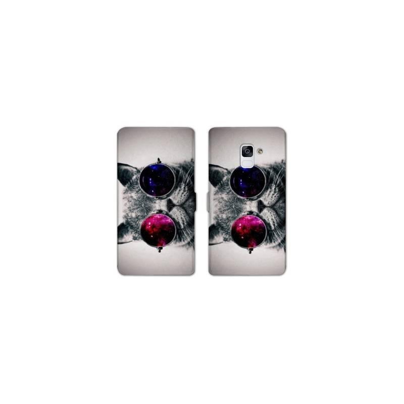 RV Housse cuir portefeuille Samsung Galaxy S9 animaux 2