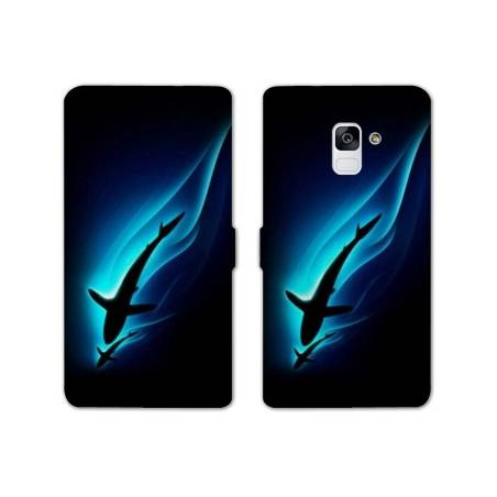 Housse cuir portefeuille Samsung Galaxy S9 animaux 2