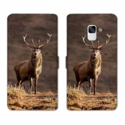 Housse cuir portefeuille Samsung Galaxy S9 chasse peche