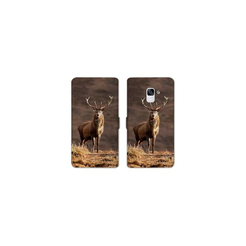 RV Housse cuir portefeuille pour Samsung Galaxy S9 chasse peche