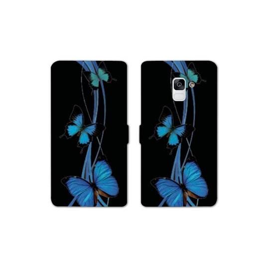 RV Housse cuir portefeuille pour Samsung Galaxy S9 papillons