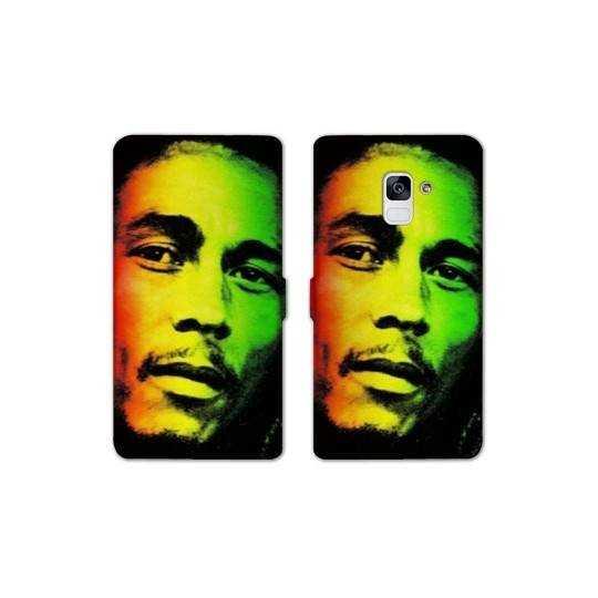 RV Housse cuir portefeuille pour Samsung Galaxy S9 Bob Marley