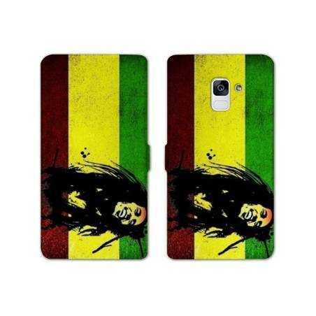 Housse cuir portefeuille Samsung Galaxy S9 Bob Marley