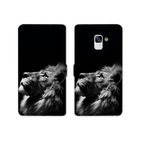 Housse cuir portefeuille Samsung Galaxy S9 felins