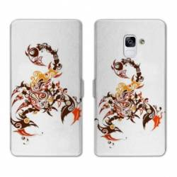 Housse cuir portefeuille Samsung Galaxy S9 reptiles