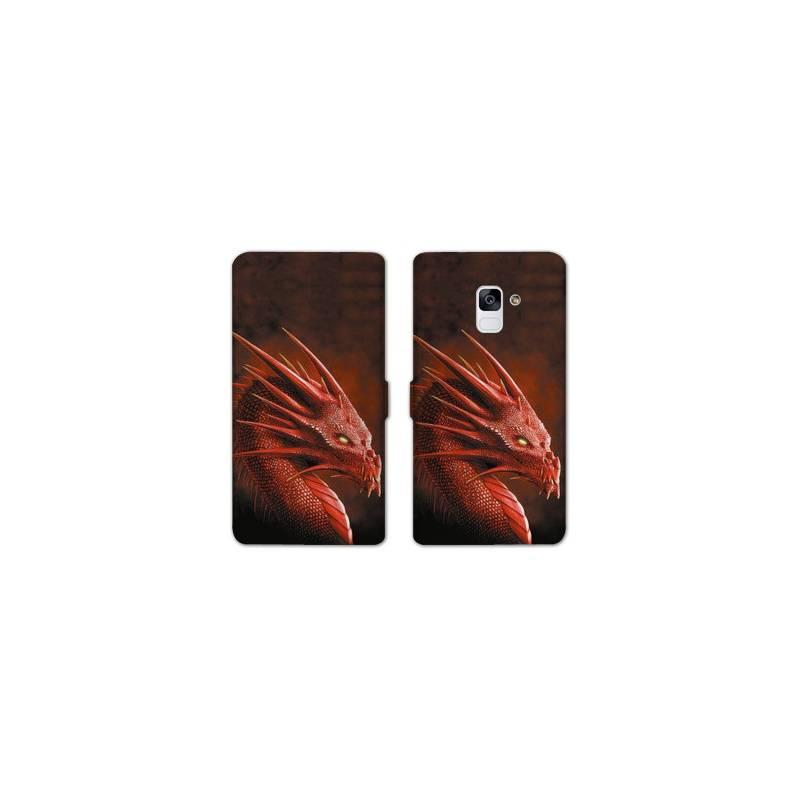 Housse cuir portefeuille Samsung Galaxy S9 Fantastique