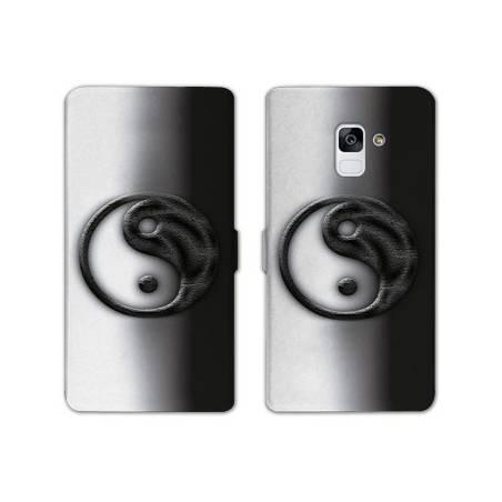 Housse cuir portefeuille Samsung Galaxy S9 Zen