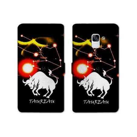 Housse cuir portefeuille Samsung Galaxy S9 signe zodiaque