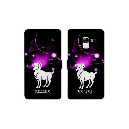 RV Housse cuir portefeuille pour Samsung Galaxy S9 signe zodiaque