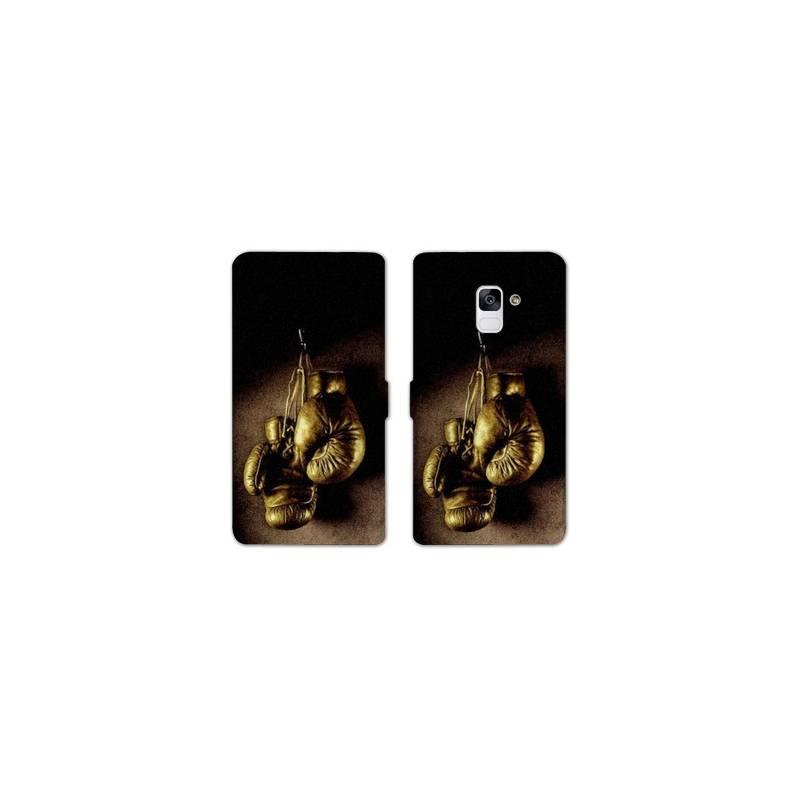 RV Housse cuir portefeuille pour Samsung Galaxy S9 Sport Combat