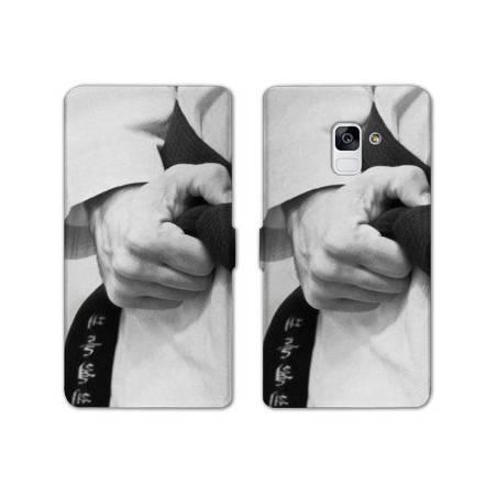 Housse cuir portefeuille Samsung Galaxy S9 Sport Combat