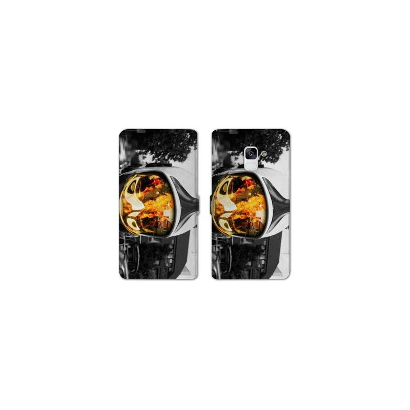 RV Housse cuir portefeuille pour Samsung Galaxy S9 pompier police